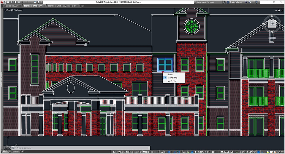 Design of retirement community in AutoCAD