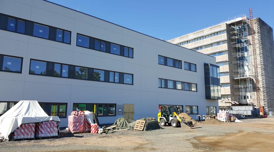 Tandvårdshuset construction in progress.