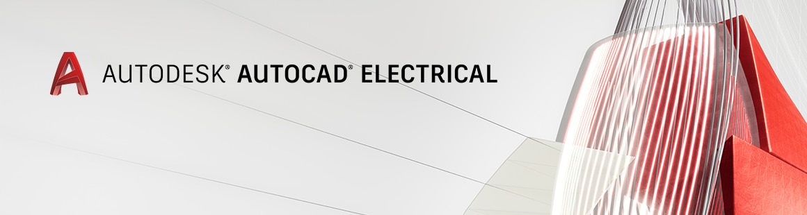 AutoCAD Electrical Webinar hero image featuring a 3D Autodesk animation