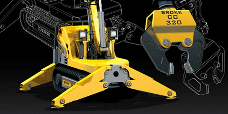 Brokk remote demolition machine