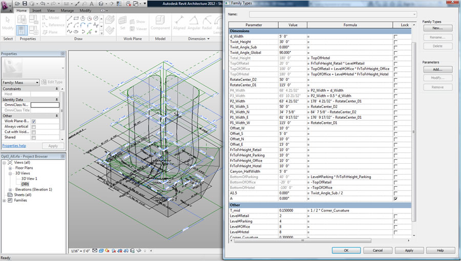 Revit design options best practices