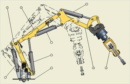 Autodesk The Gallery Brokk Remote Demolition Machine