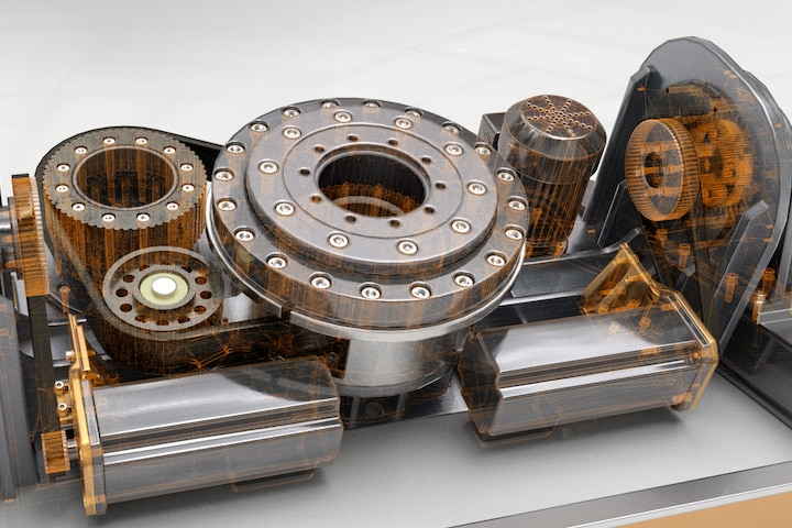 Rendering of a machine part demonstrating product quality