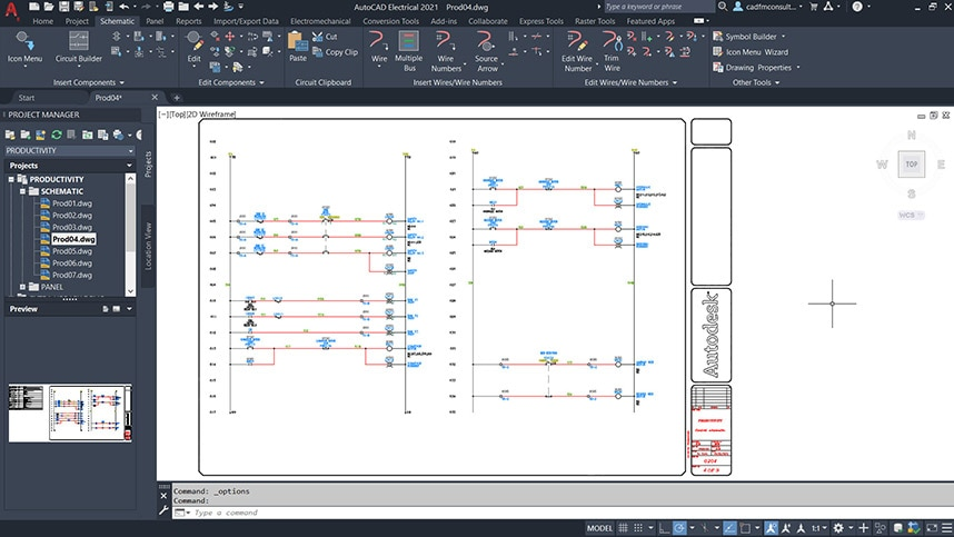 electrical design in AutoCAD Electrical toolset