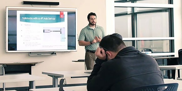 Educator teaching students in a classroom