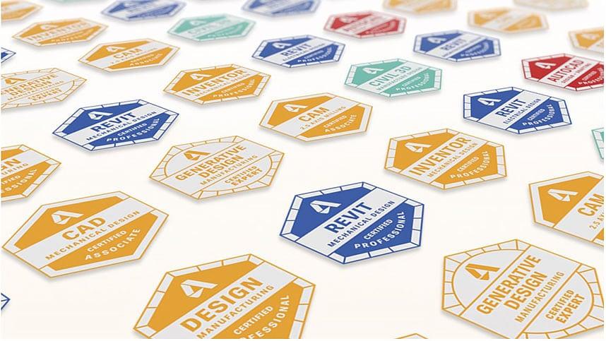 Distintivo de certificación de Autodesk
