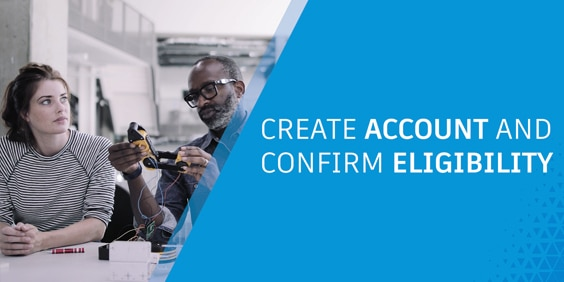 Video: create an account and confirm eligibility