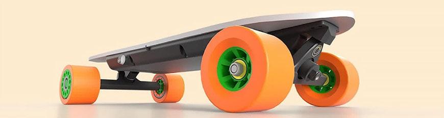 Modelo personalizado de skate diseñado en Fusion 360