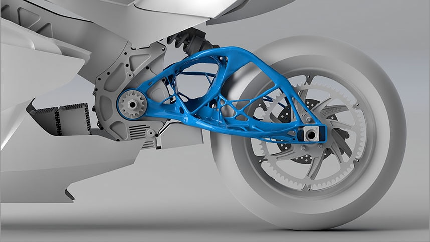 Design of a lightning motorcycle using generative design tool