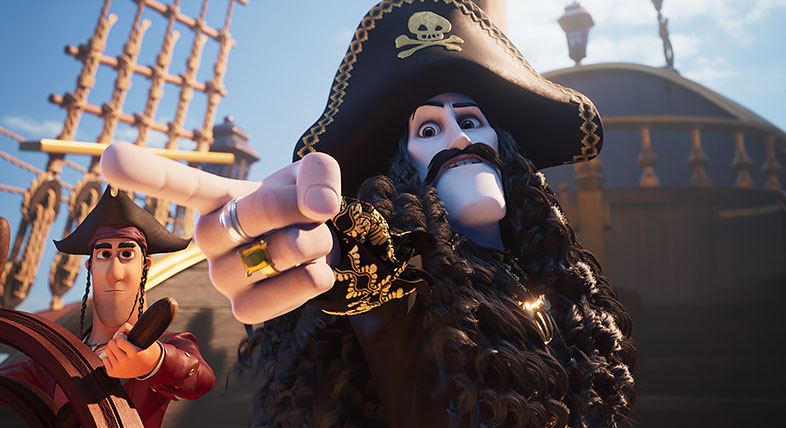 Pirate pointing finger