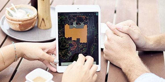 Architects using AutoCAD in a mobile environment.