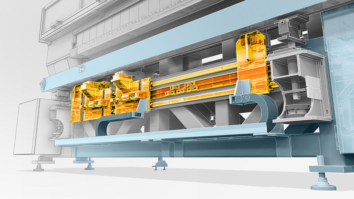 3D image of manufacturing conveyor belt