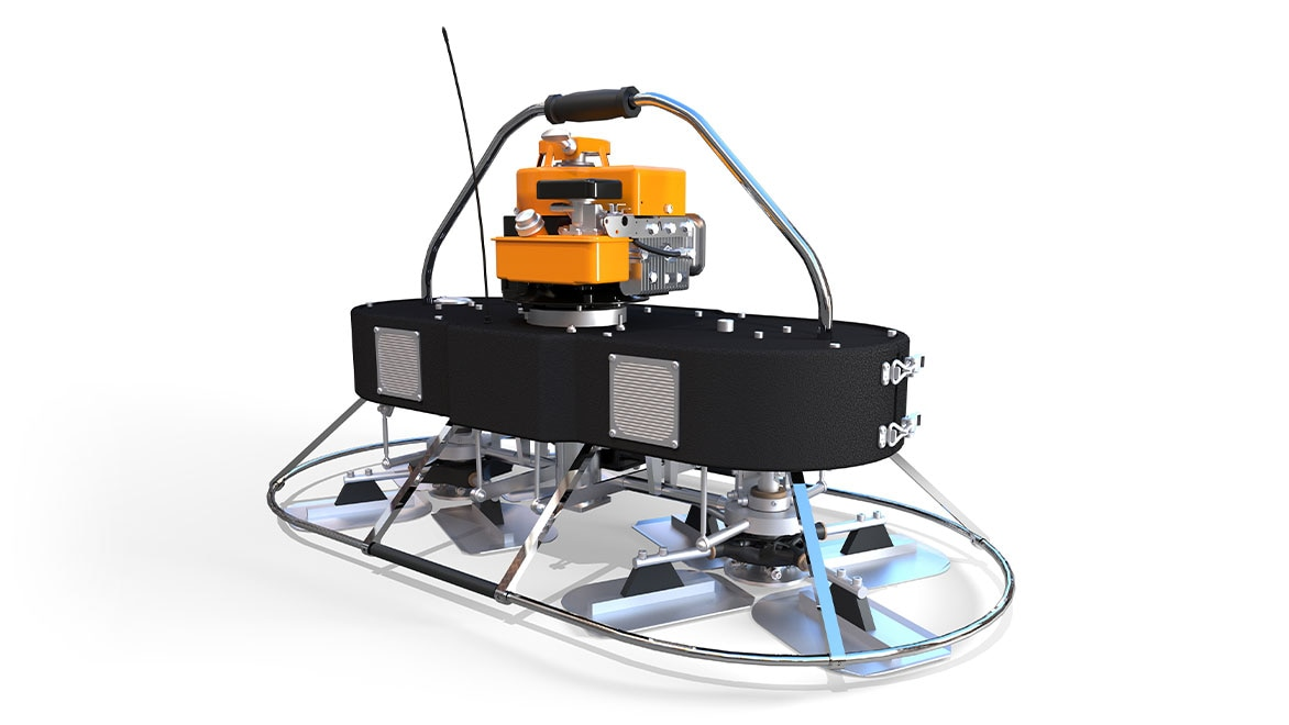 Rendered design of a manufactured 3D model