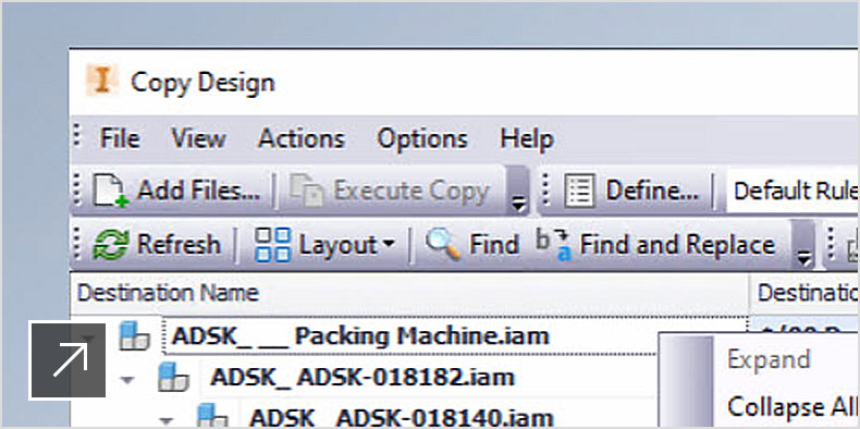 Inventor add-in enhancements and copy design spreadsheet in Vault
