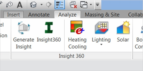 Generate Insight in FormIt 360 Pro or Revit