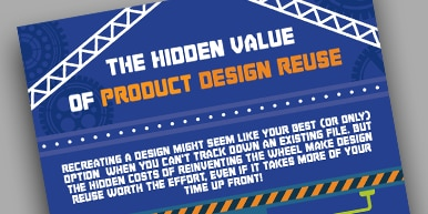 The Hidden Value of Product Design Reuse Infographic