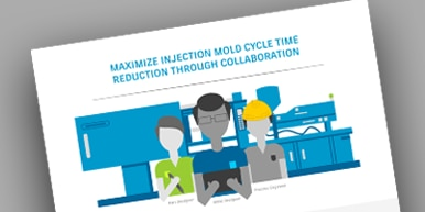 Mold cycle time to value infographic