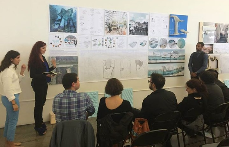 CCA students developed designs for a floating expansion of the Pier 9 workshop in the San Francisco Bay