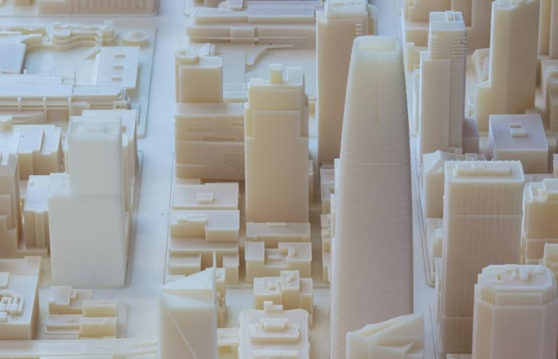 3D print of San Francisco created by Steelblue, fabricated at Pier 9 workshop