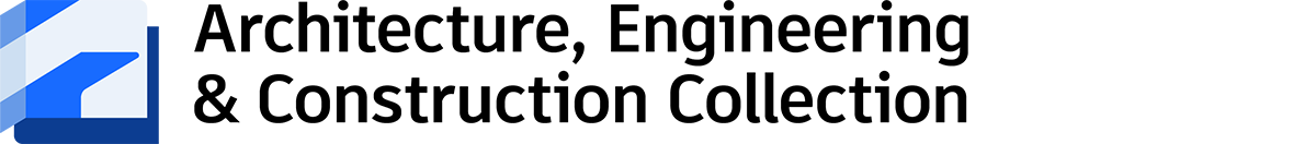 architecture, engineering & construction collection logo