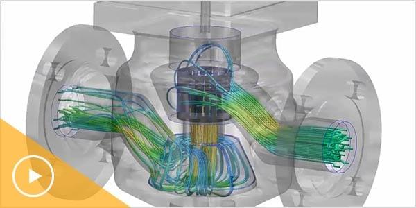 動画: CFD ソフトウェアを利用した産業フロー制御