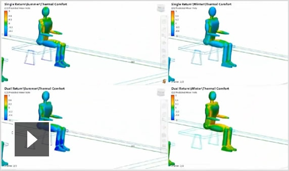 Video: Autodesk CFD predicts thermal comforts and wind loads through AEC and MEP applications