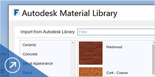 Use Autodesk Material Library