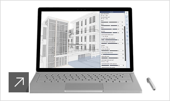 FormIt Pro architectural modeling software being used on a laptop