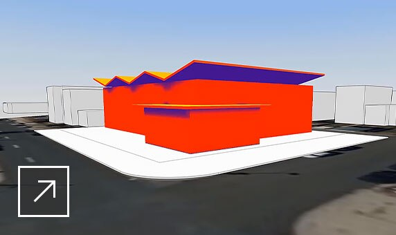 FormIt software running color-coded energy analysis