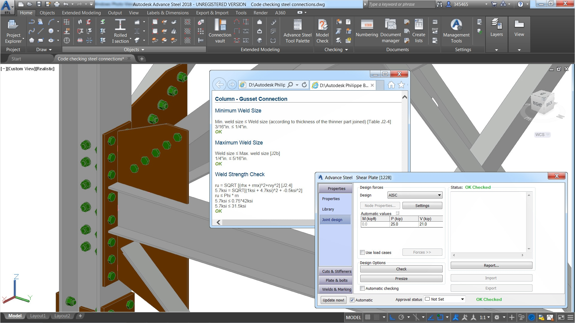 Structural Steel Design Advance Steel Features Autodesk