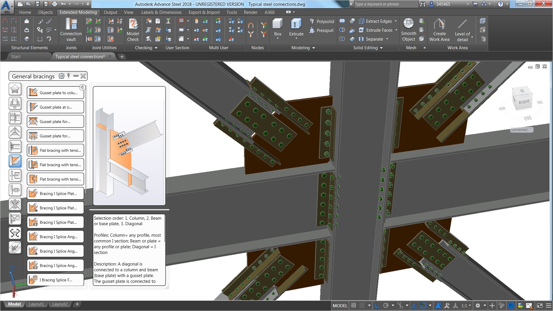 Structural Steel Connections Dwg : Structural steel design advance autodesk
