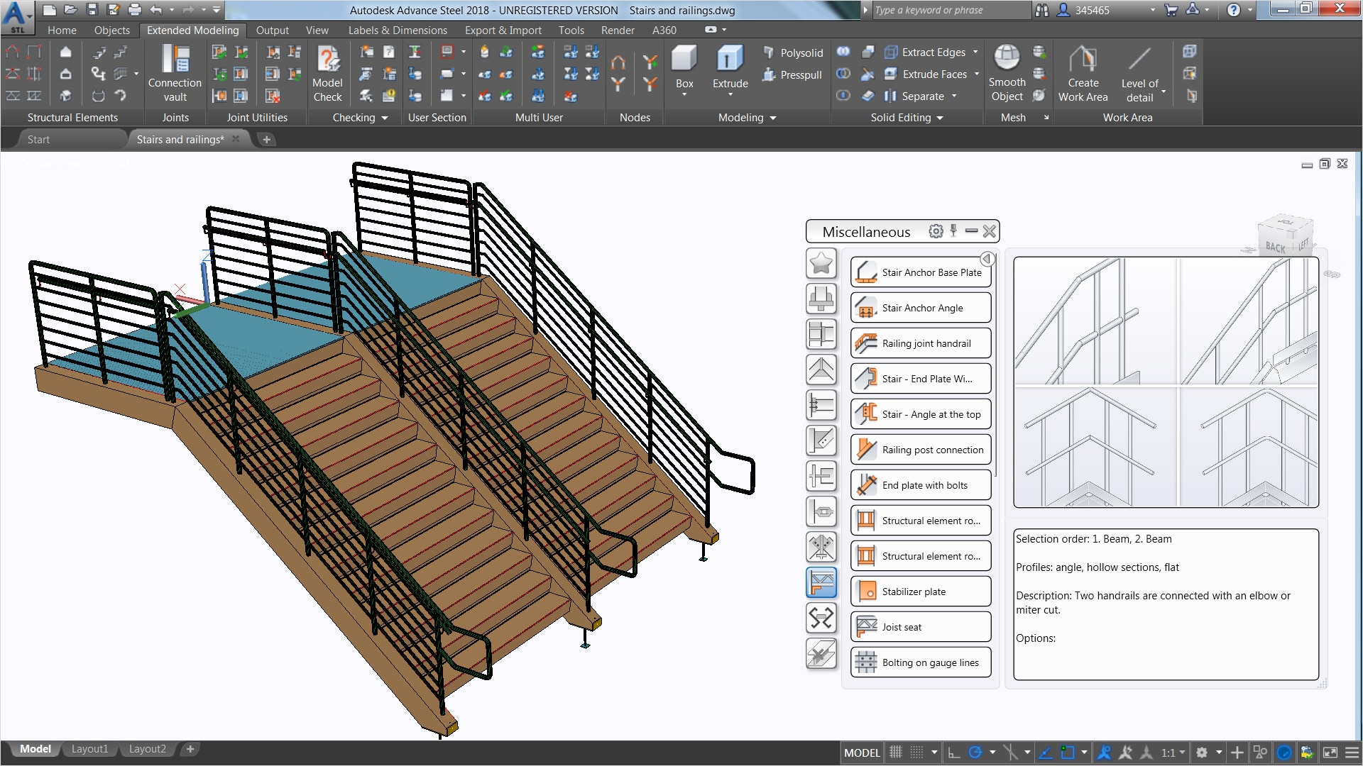 Structural Steel Design Advance Steel 2018 Autodesk
