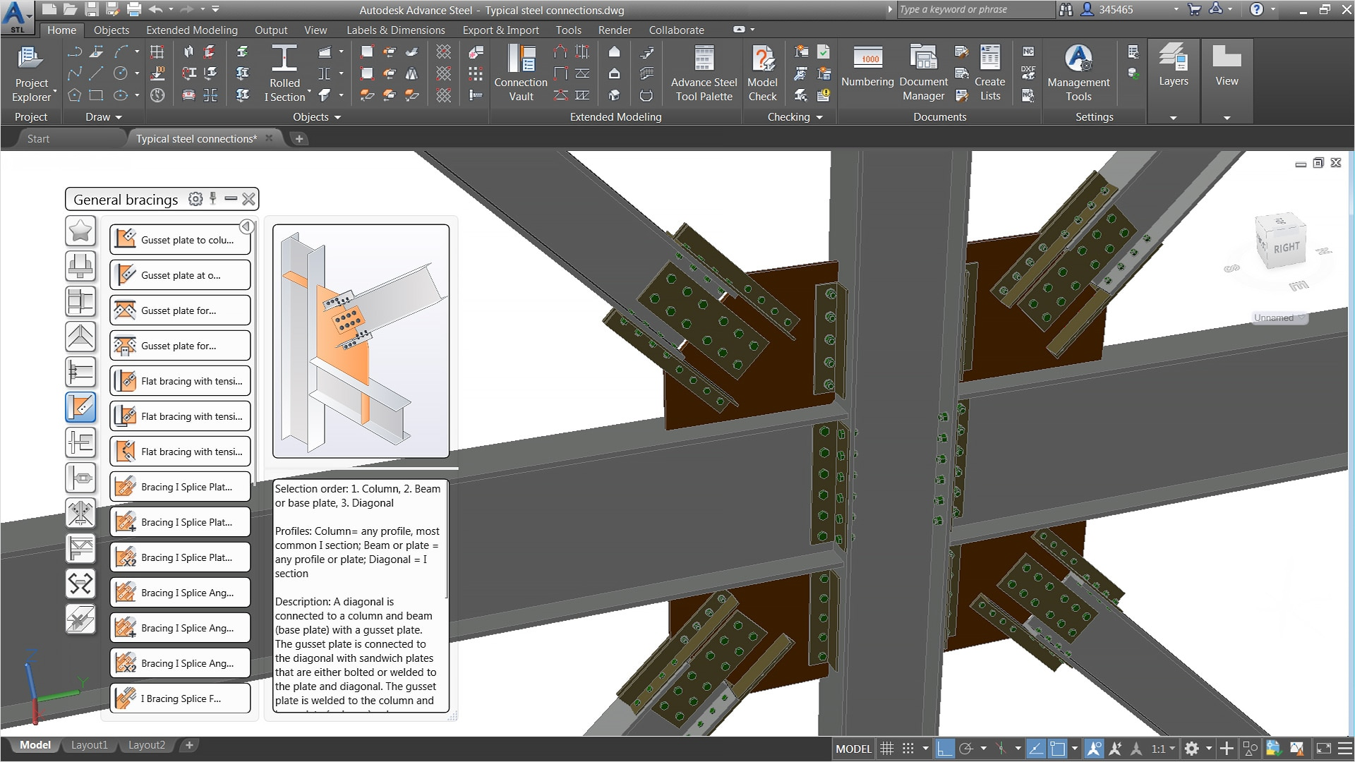 Advance steel steel detailing software autodesk for Autodesk online home design