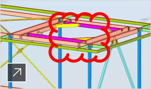 Advance Steel 3D model shared with other team members on the BIM 360 Docs platform