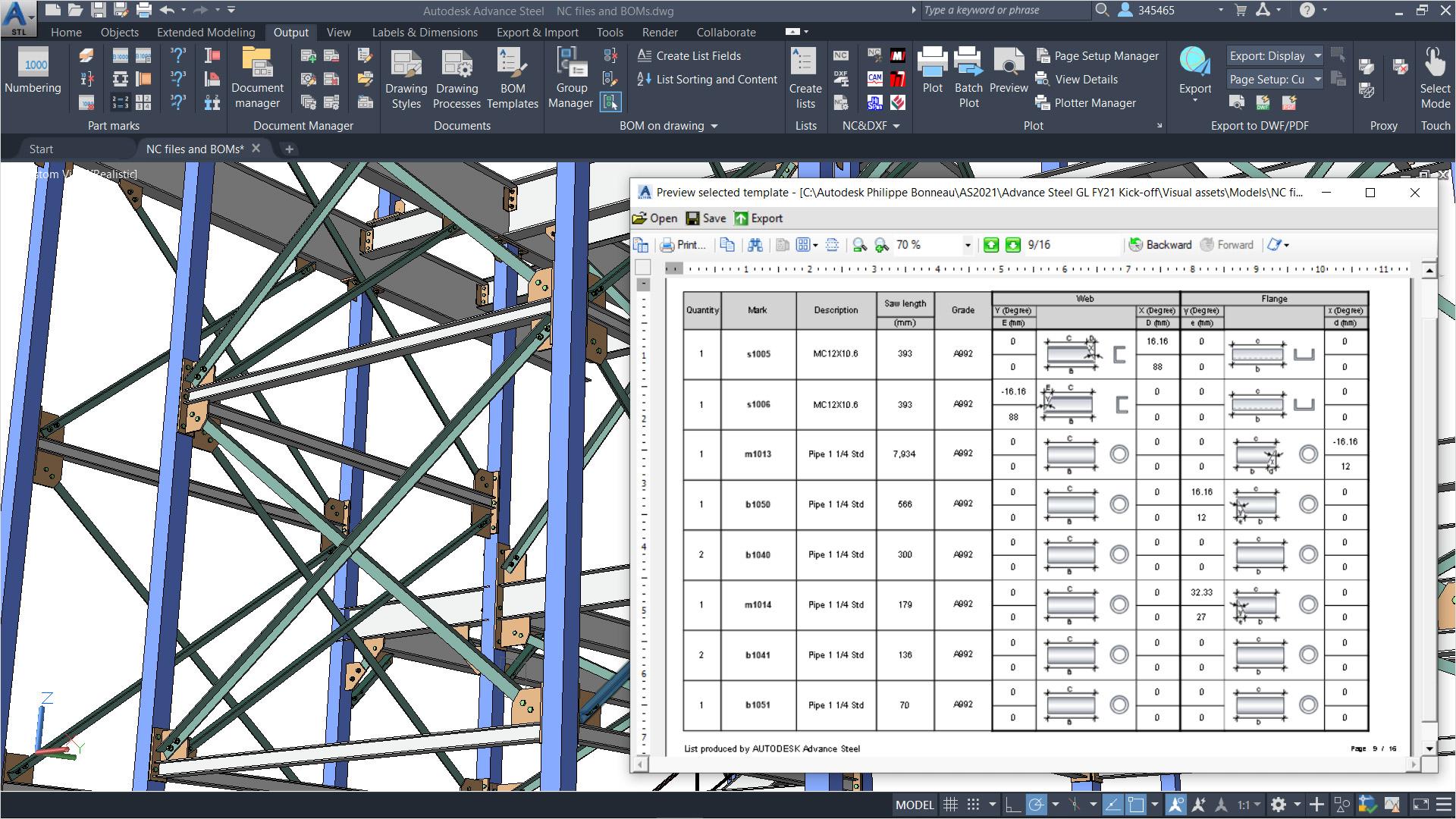Advance Steel Structural Steel Design Autodesk Official