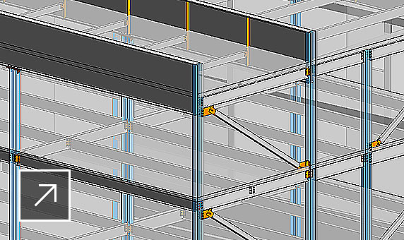Snippet image of a steel structure in Revit