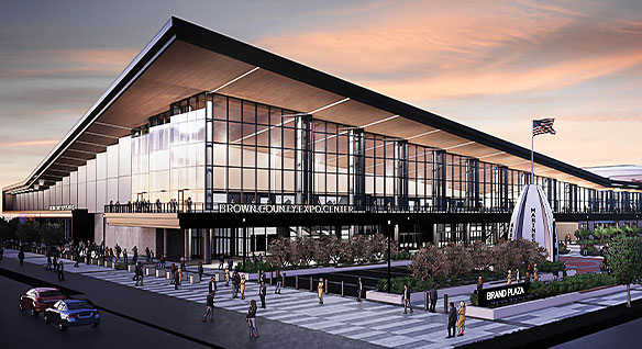 Rendering of Brown County Expo Center