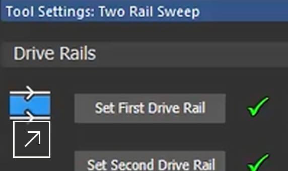 ArtCAM Standard: 2-rail sweep