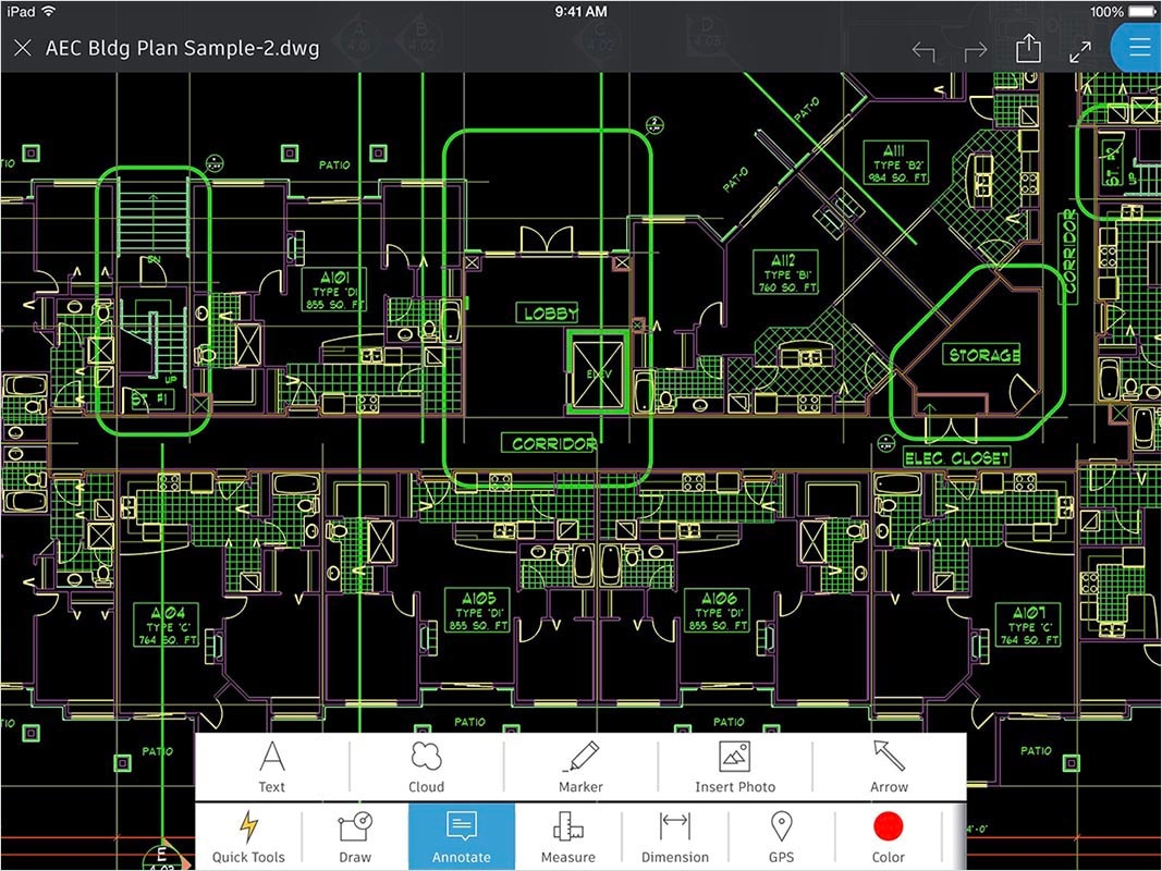 AutoCAD 360 features: Annotate