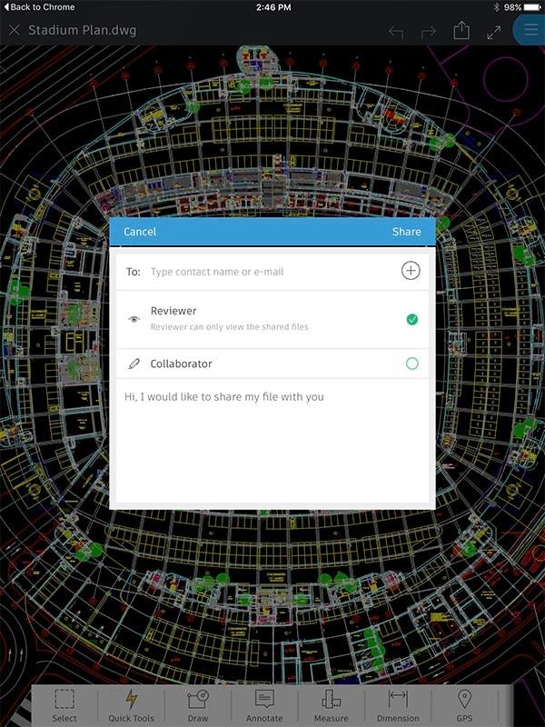 Funciones de AutoCAD 360: compartir diseños de solo lectura