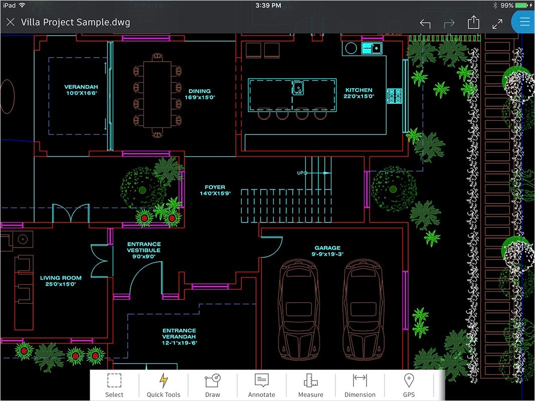 AutoCAD 360 features: View