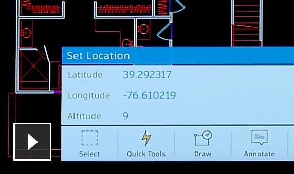 AutoCAD mobile 2018: GPS