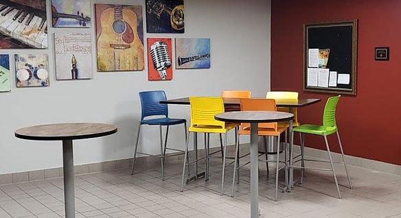 AutoCAD rendering of a break room