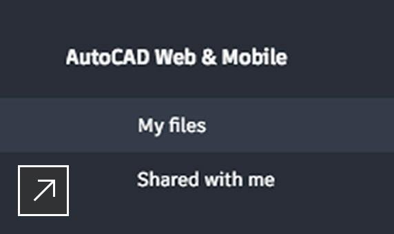 Captura de pantalla de archivos DWG dentro de la carpeta Mis archivos de las aplicaciones web y móvil de AutoCAD