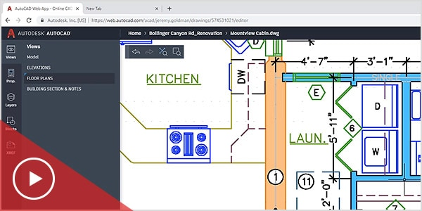 Create and edit drawnings in the AutoCAD web app