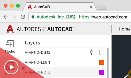 Video dell'app AutoCAD per il Web