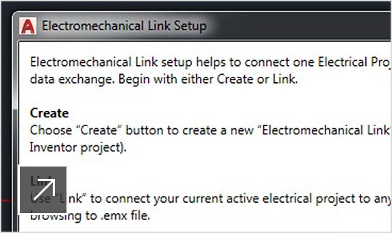 The AutoCAD Electrical toolset includes tight integration with Inventor