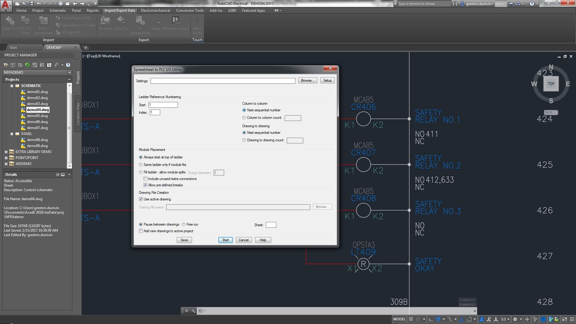 Schemi Elettrici Unifilari E Multifilari : Set di strumenti autocad electrical software per la