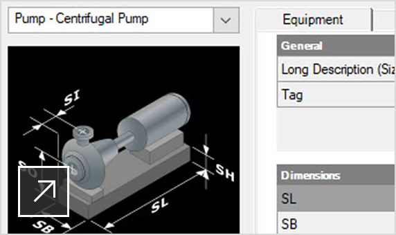 Fast equipment modelling using templates