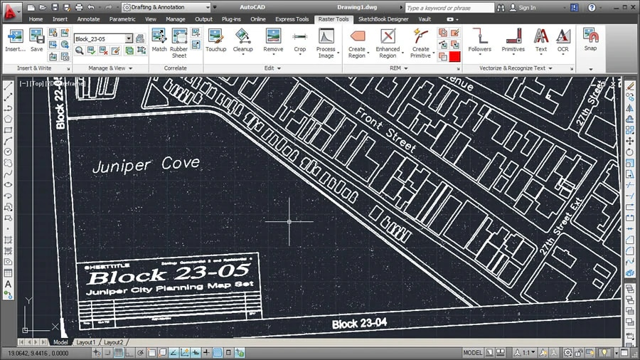 AutoCAD Raster Design Toolset | Raster-To-Vector Software